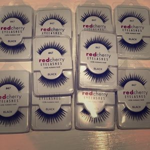 10 pairs of red cherry lashes #47 whispy